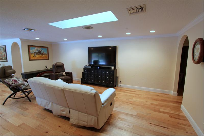 Family Room has Sky Lights