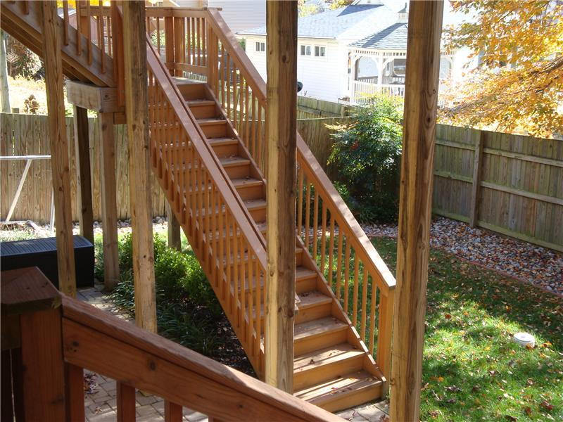 Stairs to yard