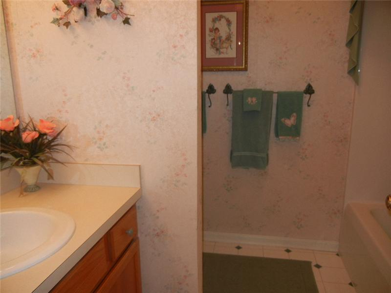 Full bath on second floor with shower tub combination!