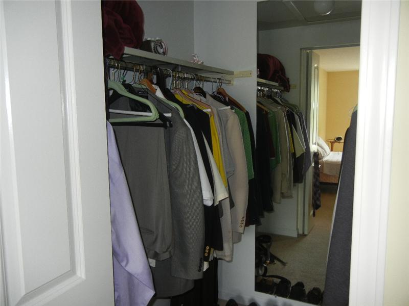 with a large walk in closet!