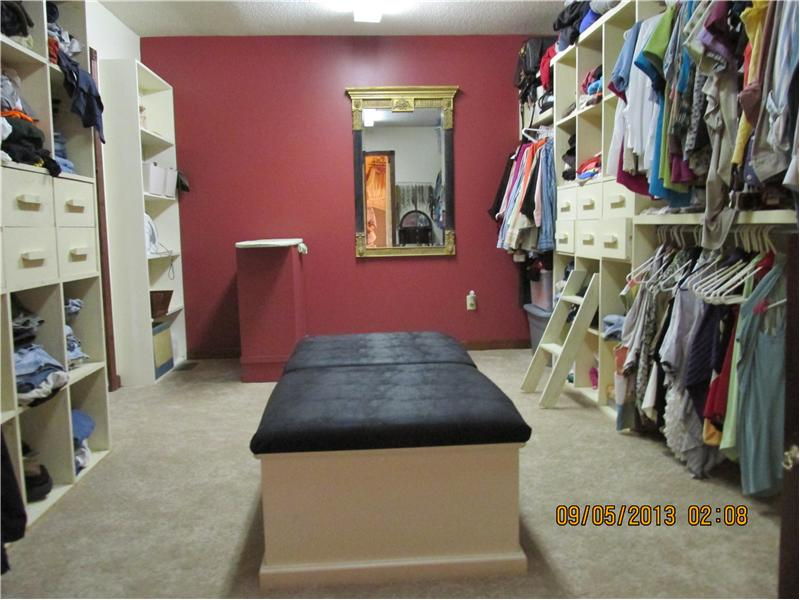 Amazing walk-in master bedroom closet